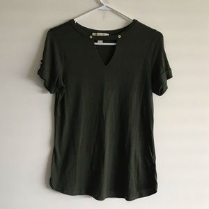 Michael Kors Tee with Metal Buttons